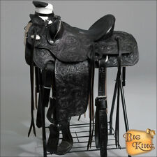 WD092BK HILASON BIG KING WESTERN LEATHER WADE RANCH ROPING HORSE SADDLE 15 16 17