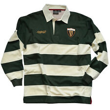 Guinness Green and Cream Stripe Polo Shirt with Harp Crest and Signature