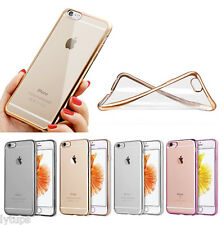 iPhone 6-6S 6Plus-6SPlus CLEAR SILICON SOFT GEL TPU CASE WITH GLASS SCREEN COVER