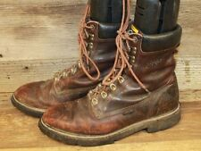 MENS LEATHER ARIAT COBOLT LACE UP WORK BOOTS SZ. 9.5 D