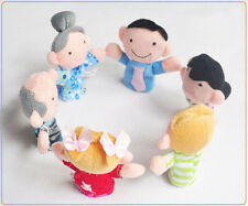 6pcs Family Animal Finger Puppet baby plush Educational Developmental Baby Toys