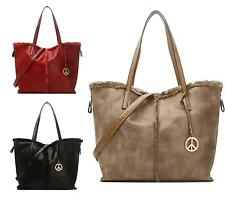 Womens Ladies Soft Faux Leather Casual Winter Slouch Fashion Shoulder Handbag