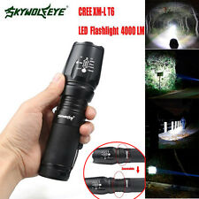 4000LM Flashlight 5 Modes CREE XM-L T6 LED Zoomable High Power Torch Lamp Black