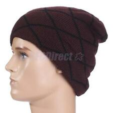 Knit Beanie Men Women Winter Oversize Baggy Hat Ski Slouch Cap Chic Unisex Hat