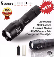 X800 Zoomable 4000Lm CREE XM-L LED Bright Flashlight Military Torch Lamp Light