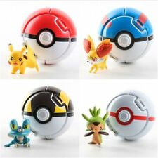 7*7CM 4PCS Bounce Pokemon Pokeball Cosplay Pop-up Elf Go Fighting Poke Ball Toy