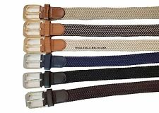 Stretch Braided Elastic Cotton Leather Golf Belt Wholesale