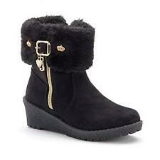 Girls' Youth JUICY COUTURE ODELE black faux fur suede fashion boots/shoes NEW