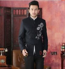 Handsome Chinese Men's Dragon Kung fu Party Jacket/Coat Size: S M L XL XXL