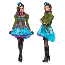 Womens Sexy Deluxe Mad Hatter Halloween Costume