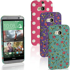 Hard PC Plastic Case for HTC One M8 2014 Skin Back Cover Shell Screen Protector