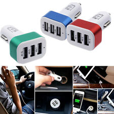 Universal Car Charger For Phone  iPhone 7 Samsung 3-Port USB DC 4.1A Adapter