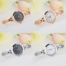 Luxury Women Stainless Steel Lady Bracelet Crystal Dial Quartz Wrist Watch Gift