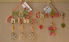 Lovely Festive Hanging Christmas decorations with tree candy cane & heart