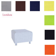 Custom Made Footstool Cover, Replacement Slipcover, Fits IKEA Klippan Footstool