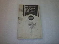 Sears Gamefisher Outboard Owner's Manual 9.9 15 HP