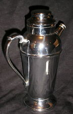 Vintage Cocktail Shaker Chrome Barware Drink Mixer Art Deco Style