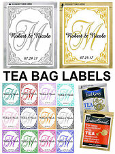 30 Personalized MONOGRAM Wedding Favors TEA BAG LABELS