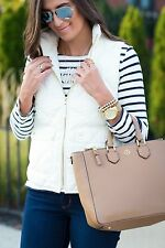NWT J.Crew Excursion Quilted Puffer Down Vest Size XL, BRIGHT IVORY