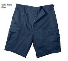 """NAVY BLUE Combat CARGO SHORTS 10"""" Inch Inseam BDU Style Police Security EMS EMT"""