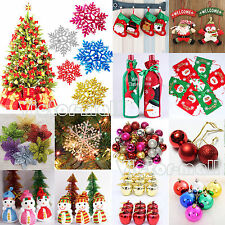 Christmas Decoration Snowflakes /Balls /Flags/Socks Xmas Party Hanging Ornaments