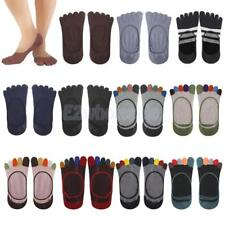 Footful Cotton Socks Soft Solid Five Fingers Toe Invisible Ankle Women Fashion