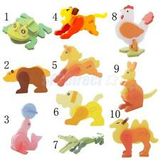 Children Learning Wooden 3D Puzzle Pad Puzzles Educational Toy Animal Pattern