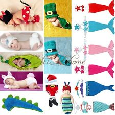 Newborn Baby Boys Girls Minnie Crochet Knit Costume Photo Photography Prop Outfi