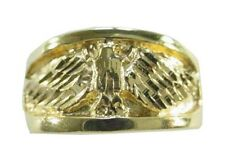 New 24KT Gold Plated Men's Eagle Band Ring - Sizes 7-14 Lifetime Warranty