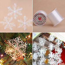 3/6pcs White Snowflake Charms Christmas Party Festival Tree Ornaments Decoration