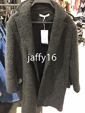 ZARA WOMAN LONG CLOTH COAT DARK GREY XS-XL REF. 1255/219