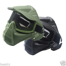 New Tactical Airsoft Full Face Mask Safety Metal Mesh Goggles Protection CS Lot