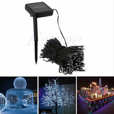 50-200 LED Outdoor Solar Powered String Light Garden Christmas Party Fairy Lamp