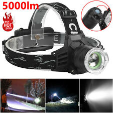 5000LM Bright XM-L T6 LED Zoomable Headlamp Headlight 18650 Lamps Outdoor Lot US