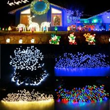 200 Outdoor LED Solar Powered Fairy String Lights Garden Christmas Wedding Party