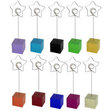 Household Office Resin Star Shaped Tabletop Decoration Note Photo Card Memo Clip