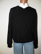 mens sweater-club room-XL-black-Crewneck-100% cashmere