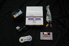 Super Nintendo SNES Console System Bundle with Busby game