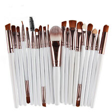 Lot 20pcs Professional Soft Cosmetic Eyebrow Shadow Makeup Brush Set Kit Tool