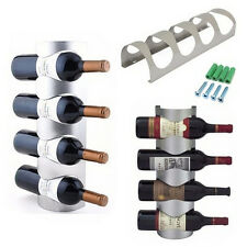 Excellent Houseware Metal Wall Mounted 3/4 Bottle Wine Holder Storage Rack QW