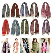 Fashion Womens Scarvves Winter Cashmere Floral Long Pashmina Shawl Wrap Scarf