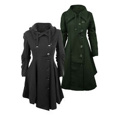 Fashion Lady Womens Warm Winter Jacket Long Sleeve Trench Coat Parka Outwear New