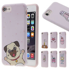 Cute Lovely Comic Duck Dog Pink Soft Phone Case Cover Shell Skin for iPhone 6 6s