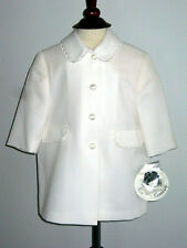 Classic English Cream Coat by Sarah Louise England NWT 6m and 18m