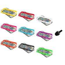 TPU Solid Bumper Jelly Case Cover Metal Buttons+Mini Stylus for iPhone 4 4G 4S