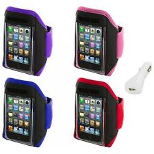Gym Sports Armband Case Cover+White Charger for iPod Touch 4th 3rd 2nd Gen 4G 3G