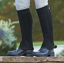 ADULTS SYNTHETIC NUBUCK HALF CHAPS HORSE RIDING CLOTHING LEG TROUSER PROTECTION