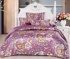19MM Seamless Silk Duvet Cover Fitted Sheet Set Twin Full Queen King Cal king