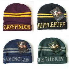 Harry Potter Stripes Knit Beanie Hat Slytherin/Gryffindor/Ravenclaw/Hufflepuff