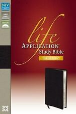 Life Application Study Bible by Zondervan LARGE PRINT red (2012, Bonded Leather)